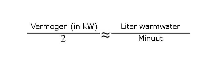 elektrische boiler vermogen